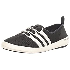 adidas Outdoor Women's Terrex Climacool Boat Sleek Water Shoe, Black/Chalk White/Matte Silver, 8 M US