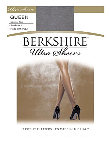 Petite Spandex Pantyhose (Berkshire Women's Plus-Size Queen Size Ultra Sheer Pantyhose - 4411, Misty Grey, Queen Petite)