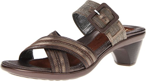 Naot Women's Dark Sienna/Coffee Tweed/Pewter Leather Marvel 40 M EU by Naot