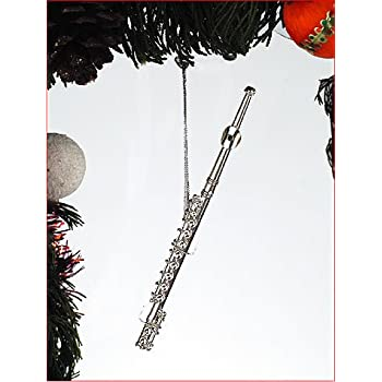 Amazon.com: Silver Music Flute Musical Instrument Ornament NEW by ...