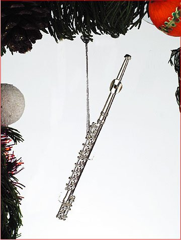 Silver Music Flute Musical Instrument Ornament NEW by Henry Imports - Amazon.com: Silver Music Flute Musical Instrument Ornament NEW By