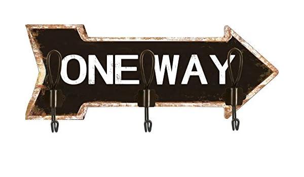 Solo Muebles Perchero 3 Ganchos One Way Flecha: Amazon.es: Hogar