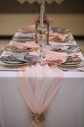 Amazon chiffon wedding table runner 12 x 108 blush home chiffon wedding table runner 12quot x 108quot junglespirit Gallery