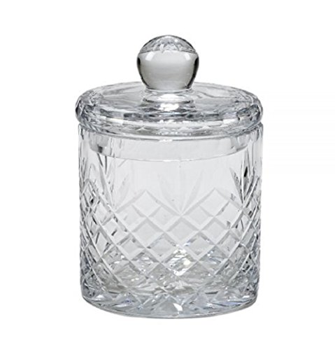 OPTIC CRYSTAL BISCUIT BARREL WITH MEDALLION ll ()