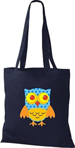 Shirtinstyle - Bolso de tela de algodón para mujer azul - azul