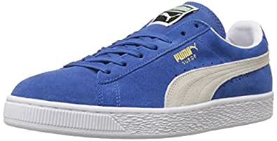 PUMA Suede Classic Sneaker,Olympian Blue/White,4 M US Men's