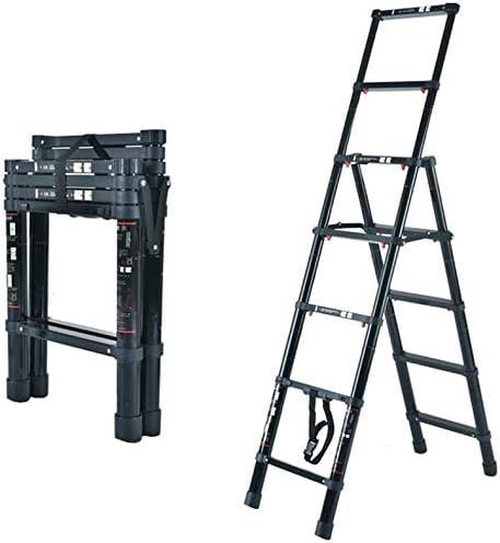 TUONAZDZ Robusto Telescópico Escalera con Bastidor Plegable Multiuso de Aluminio Ligera extensión Escalera de Tijera for de Interior al Aire Libre 330lbs Capacidad de Carga (Size : 5 Step): Amazon.es: Hogar