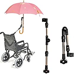 360 Angle Degrees Adjust Umbrella Mount Holder, Umbrella Connector Holder for Wheelchairs, Walker, Rollator, Camera's Tripod, Bike, Biycle, Pram, Stroller, Deck Chair