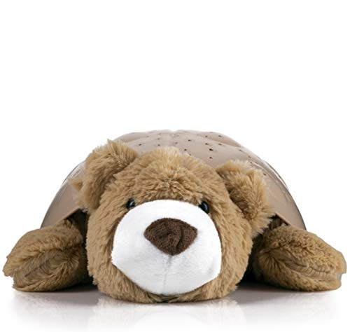 Hug Me Light Projection Animal Plush - Calming Starry Night Sky, Ideal to Ease Your Little Ones to Sleep (Bear)