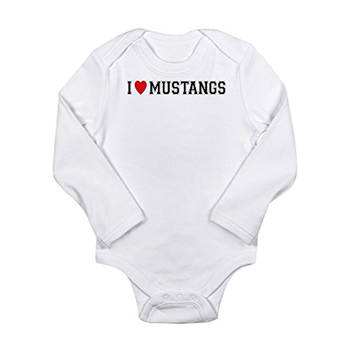 CafePress - I-Love-Mustangs - Cute Long Sleeve Infant Bodysuit Baby Romper Mustang Boy Racer