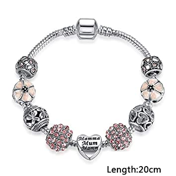 Jewellery & Watches Charms & Charm Bracelets Nice New Silver 20cm Lobster Heart Clasp Charm Bead Snake Chain European Bracelet Fashionable Patterns