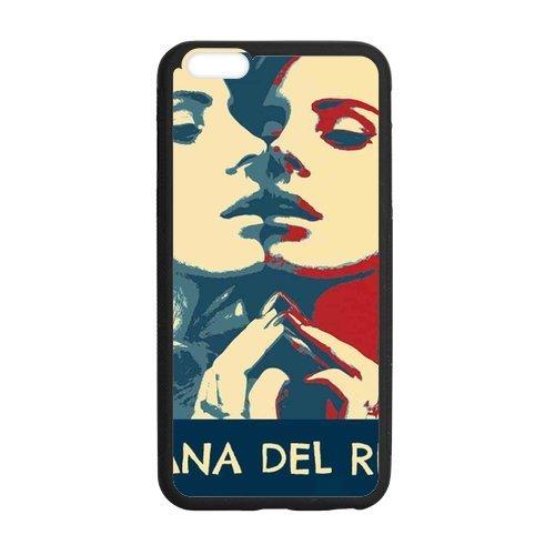 Lana Del Rey, iphone6 Cover, iphone 6 TPU Gel Case, iphone 6 Skin, Custom TPU iphone 6g Back Case, 4.7 inch, Black/White