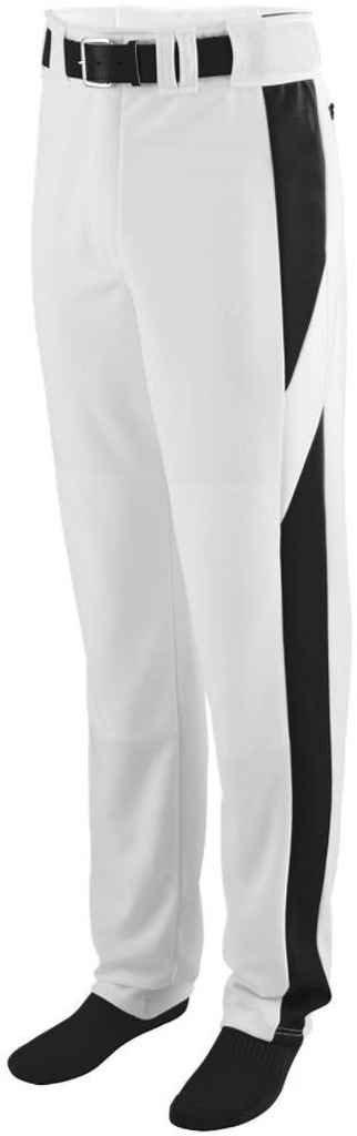 Augusta Sportswear Big Boy 'sリラックスフィット野球パンツ B00P5444SA Large|ホワイト/ブラック ホワイト/ブラック Large