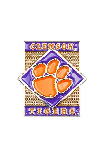 - aminco NCAA Clemson Tigers Diamond PinDiamond Pin, Team Color, 4