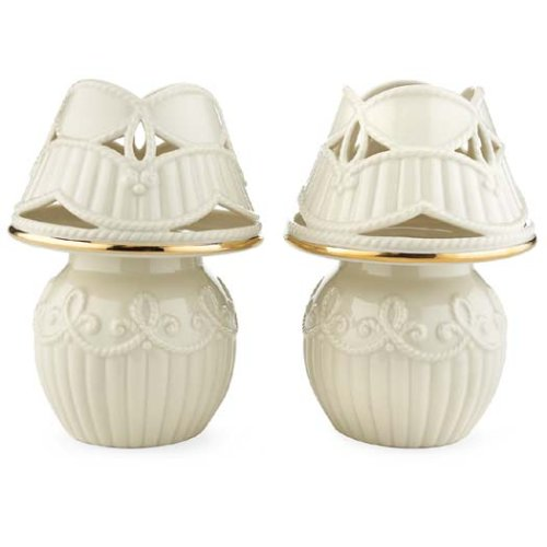 Lenox Great Giftables Carved Tealight Lamps, Set of (24k Gold Trimmed Tea)