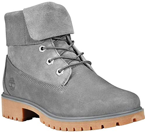 Gray Leather Boots - Timberland Women's Jayne Fold Down Boot Medium Grey Nubuck 10 B US