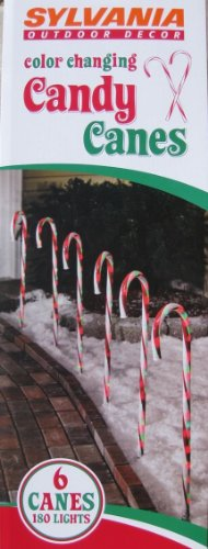 Green Candy Cane Outdoor Lights in US - 1