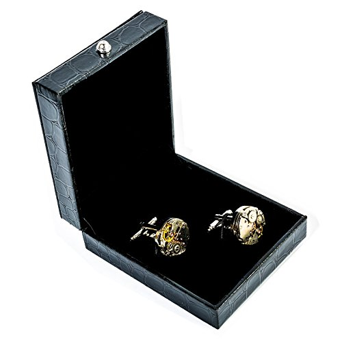 RXBC2011 Upgraded Version Deluxe Steampunk Watch Mens Vintage Watch Movement Shape Cufflinks Come in an Elegant Storage Display Box (with GIFTBOX) by RXBC2011 (Image #6)