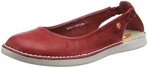 Softinos Tor384SOF, Bailarinas para Mujer Rojo (Red)