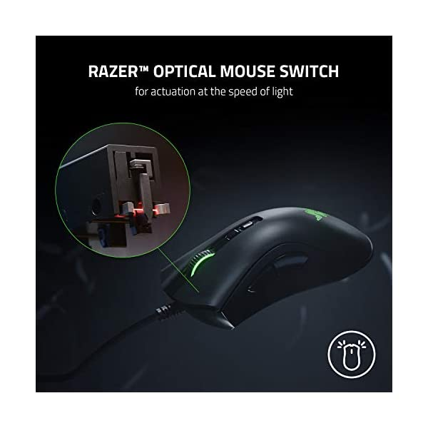 Razer DeathAdder v2 Gaming Mouse: 20K DPI Optical Sensor - Fastest Gaming Mouse Switch - Chroma RGB Lighting - 8 Programmable Buttons - Rubberized Side Grips - Classic Black