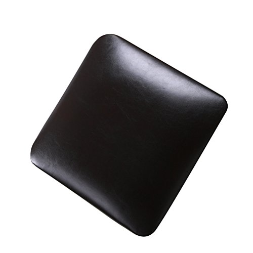 Metal Bartool Cushion Faux Leather Square Seat Cushion (Pack of 4) Chair Cushions for Bar or Kitchen Brown (Stool Square Chair)
