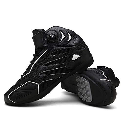 MRDEAR Motorradschuhe Herren Sommer, Motorrad Schuhe Sneaker, Mikrofaser Motocross Stiefel Kurze Ankle Boot Leichte…