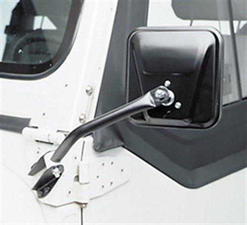 1986 Jeep Cj7 Mirror (Smittybilt 7617 Side Door Mirror Rearview 55-86 CJ Black - PAIR)