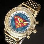 Superman Pattern Gold Silver Luxury M...
