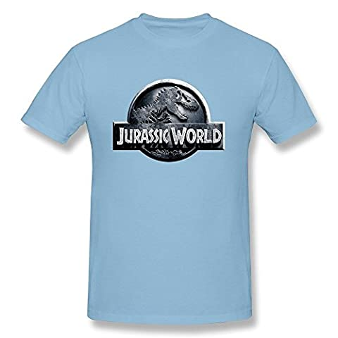 FHY Men's Dinosaurs Jurassic World Logo T-shirts XX-Large ColorSkyBlue (Gone Baby Gone Movie Poster)