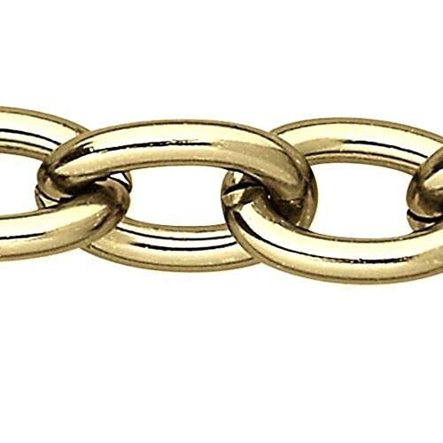 1 Feet Big Gold Anodized Cable Link Aluminum Chain with Open 11mm x 15mm Ovals