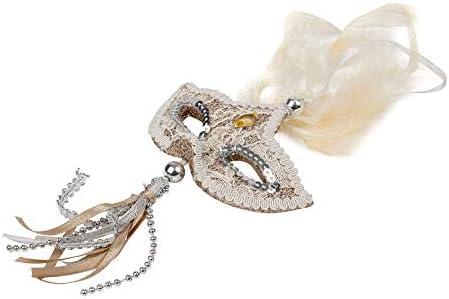 TRIXES Venetian Masquerade Mask Hanging Christmas Tree Gold