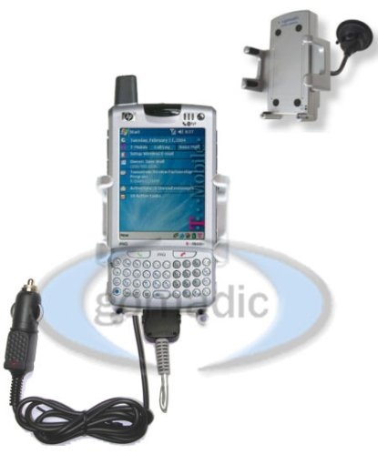 T-Mobile iPAQ h6315 / h 6315 Powered Windshield Car / Auto Mount PDA Holder - Gomadic Brand