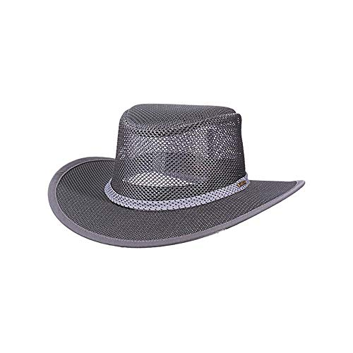 Stetson Men's Mesh Covered Hat, Charcoal, Large