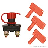 PEAKTOW PTT0003 Battery Disconnector Isolator Cut Off Switch with 3 Keys 1PK