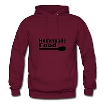 Homemade Food2 Ebolam X-large Women Burgundy Customized Hoodies
