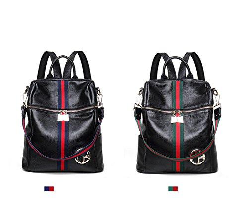 de Negro bolsa escuela mochilas de del capacidad morral mujeres bolso cuero Negro 1 de bandolera Ms 2 de hombro las gran senderismo Bolso casual aRxFF
