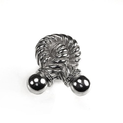 Vicenza Rope (Vicenza Designs K1021 Equestre Rope Knob, Small, Polished Silver)