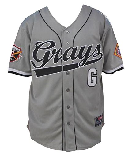 (Big Boy Headgear NLBM Mens Homestead Grays Baseball Jersey 3XL Gray)