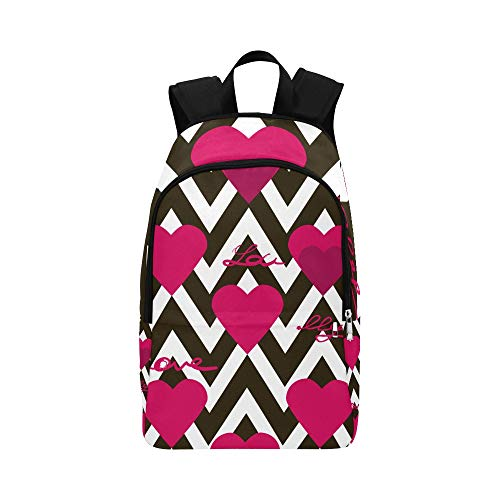 Seamless Valentines Day Pattern Hearts Te Casual Daypack Travel Bag College School Backpack Mens Women