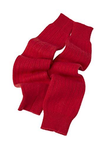 Cashmere Boutique: 100% Pure Cashmere Leg Warmers (Color: Crimson Red, Size: One Size)