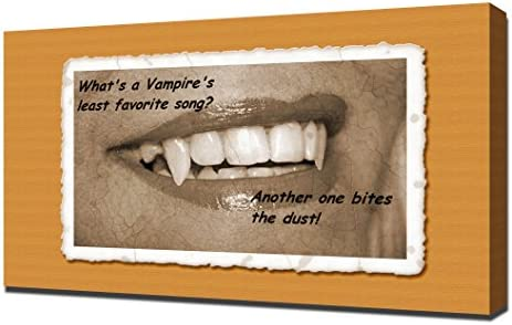 Amazoncom Funny Halloween Quotes 3 Canvas Art Print