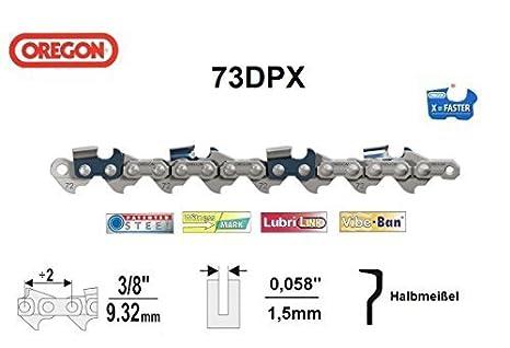 Halbmei/ßel 62 TG Oregon-73DPX S/ägekette 3//8 x 1,5 x 40-80 TG S/ägeketten