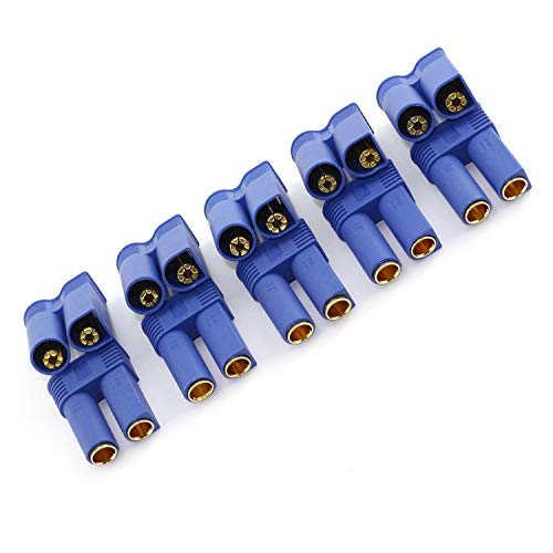 (DGZZI 5Pairs EC5 Battery Connector Plugs Male and Female Gold Bullet Banana Plug Sets)
