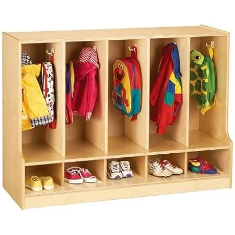 Jonti Craft Toddler Coat Locker W 5 Sections