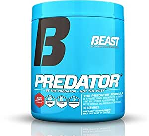 Beast Sports Nutrition Predator Pre Workout Powder, Beast Punch, 8.6 Ounce