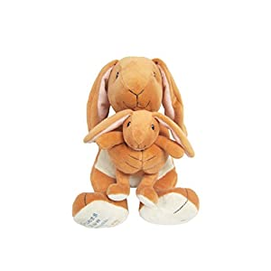 Guess How Much I Love You Big Nutbrown Hare and Little Nutbrown Hare Musical Plush Waggie, 7.75""