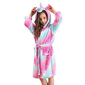 Doctor Unicorn Soft Unicorn Hooded Bathrobe Sleepwear – Unicorn Gifts for Girls
