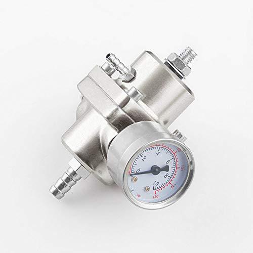 BEESCLOVER Car Fuel Pressure Regulating Valve Fuel Pressure Regulator 4-way Supercharger Silver: