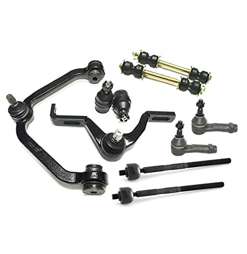 PartsW 10 Piece Suspension Kit for Ford Mazda Mercury 2 Piece Design/Torsion Bar only! control arm ball joints tie rods sway bar links