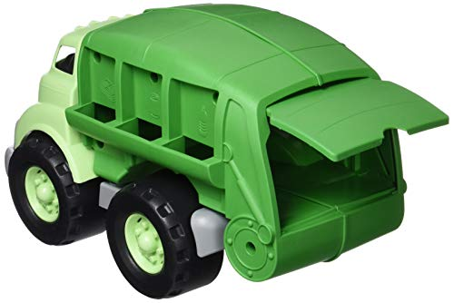 Green Toys Recycling Truck & Board Book, Green - Pretend Play, Motor Skills, Reading, Kids Toy Vehicle. No BPA, phthalates, PVC. Dishwasher Safe, Recycled Plastic, Made in USA.